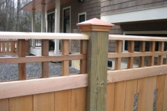 copper top Custom Fence