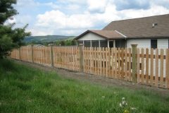Dog-Eared Picket Fence